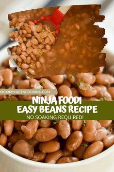 Easy Bean Recipes, Pinto Bean Recipes, Ninja Recipes, Easy Dinner Recipes, Easy Meals, Healthy Recipes, Freezer Meals, Crockpot Recipes, Free Recipes