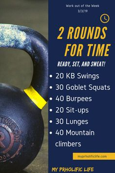 Workout of the Week 3/3/19 This Workout of the Week is great for people on the go! Burpees and kettlebell work will definitely get the heart pumping. #workout #fitness #crossfit via @samcgee55