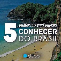 Água cristalina e areia fofinha? Você precisa conhecer essas 5 praias! :D   Clique aqui e confira: https://www.dubbi.com.br/blog/5-praias-que-voce-precisa-conhecer-no-brasil