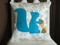 sooo cute, a squirrely pillow