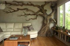 love the tree on the wall!!