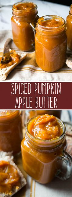 Spiced Pumpkin Apple Butter is a tasty seasonal treat to slather on fresh bread, pancakes, or even as a topping for ice cream. This pressure cooker spiced pumpkin apple butter recipe makes your house smell fabulous too! Pumpkin Butter, Spiced Pumpkin, Apple Recipes, Fall Recipes, Fennel Recipes, Fresh Pumpkin Recipes, Recipies, Healthy Recipes, Sauces