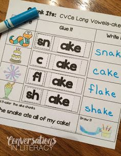 CVCe Long Vowel Chunk Its activity$- My students need practice in this skill!