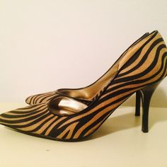 Zebra Print High Heels Never worn high heels. Charlotte Russe Shoes Heels
