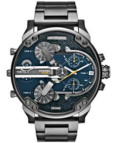 5d829c5f578b Diesel Men s Mr. Daddy 2.0 Gunmetal Ion-Plated Stainless Steel Bracelet  Watch 57mm DZ7331   Reviews - Watches - Jewelry   Watches - Macy s