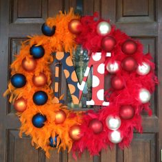 house divided wreath...A&M and UT