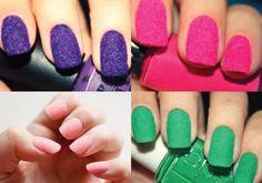 Flocked nails