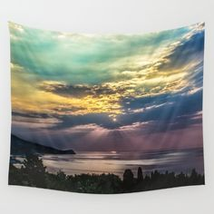 Cloudy sunrise Wall Tapestry