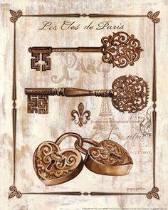 Keys to Paris I by Gregory Gorham art print