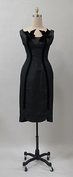 Cocktail Dress, Charles James, American (born in Great Britain), silk or sythetic, 1950's