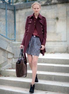 Lovely oxblood coat