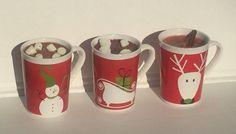 Novelty Holiday Mug Wooden Wick Candle Shipped by IslandGraphics
