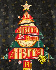"""New Orleans inspired graphic t-shirt, sticker and poster designs nodding towards the essence, charm and overall """"spirit"""" of the Crescent. Abita Beer, Christmas Cards, Christmas Tree, More Beer, Spring Water, Louisiana, New Orleans, Brewing, Cheer"""