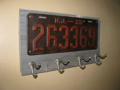Vintage coat rack made with a real vintage by ThePlateFactory, $59.00