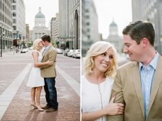 Indianapolis Engagement Photographer - Downtown Indianapolis Session - Monument Circle - Jenna Henderson, Photographer