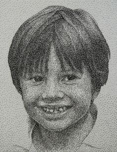 Amazing Portraits Made From a Single Unbroken Thread by Kumi Yamashita
