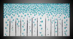 48 x 24 Abstract Acrylic Painting on Large Canvas by acrylkreativ, $319.00