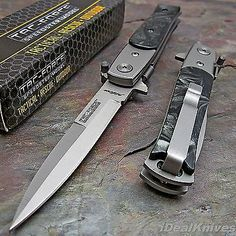 TAC-FORCE Spring Assisted Opening BLACK PEARL STILETTO Folding Pocket Knife NEW! | Collectibles, Knives, Swords & Blades, Collectible Folding Knives | eBay!