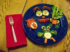 Las verduras divertidas
