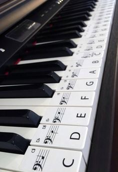 STANDARD Keyboard / Piano Stickers up to 61 KEYS the best way