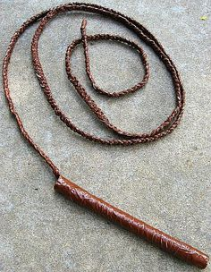 How to make a duct tape bullwhip.....you really can appreciate this if you have boys who love Indiana Jones!