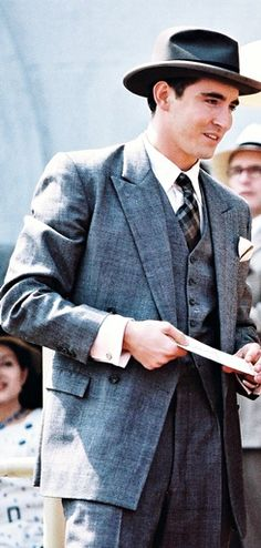 Oh look Lee Pace in vintage suits. Lee Pace, Oklahoma, Lee Movie, Perfect Husband, Pushing Daisies, Thranduil, Man Crush, A Good Man, Mens Suits