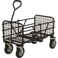Strongway Folding Utility Cart x 25 Capacity * Find out more about the great product at the image link. Folding Shopping Cart, Folding Cart, Pull Wagon, Scooter Design, Steel Deck, Utility Cart, Home Ceiling, Coffee Carts, Antique Desk