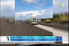 Avión con falla en el tren de aterrizaje de emergencia en Punta Cana
