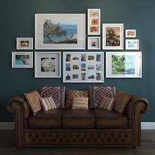 I like this layout. ikea frames