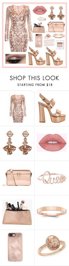 """·Rosegold Party Outfit·"" by xxflowersxx ❤ liked on Polyvore featuring Givenchy, Accessorize, Rebecca Minkoff, New Directions, Bobbi Brown Cosmetics, party, fancy and rosegold"