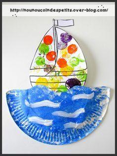 """.. thème été .."""" petit bateau sur l'eau """""""