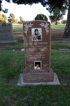 The final resting place of boxing legend Sugar Ray Robinson