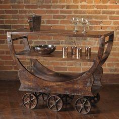 Found it at Wayfair - Mill Bar Serving Cart Bar Furniture, Industrial Furniture, Vintage Industrial, Industrial Design, Vintage Bar Carts, Serving Cart, Wooden Bar, Cool Bars, Wood Crafts