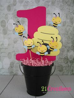 Bumble Bee High Chair Banner I am 1 by 21Creations on Etsy
