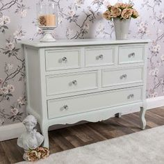 FREE VALUE FURNITURE: Large grey chest of drawers ornate shabby vintage chic furniture storage home Grey Chest Of Drawers, Shabby Vintage, Shabby Chic, Cabinet Furniture, Furniture Storage, Value Furniture, Boys Bedroom Furniture, Back To Home