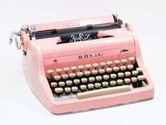 I'm not a pink girl but hey - gorgeous is gorgeous!   Pink Royal Quiet DeLuxe Manual Typewriter