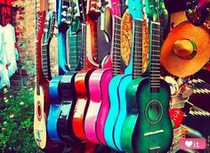 spanish guitar photography music photo gift for musician, colorful rainbow, LA latin inspired southwest decor, musical instrument, kids room Message Vocal, Club Monaco, Olvera Street, What's My Favorite Color, Favorite Things, Guitar Photos, Learn To Play Guitar, Southwest Decor, Southwest Style