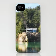 Cabin on the Lake iPhone Case by Captive Images Photography - $35.00