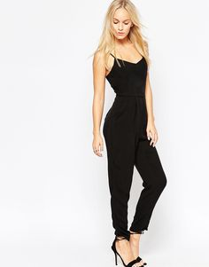 Image 4 of New Look Petite Strappy Jumpsuit