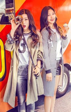 Red Velvet Seulgi & Joy Kpop Fashion for Metersbonwe 2015