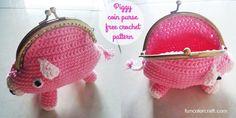 Piggy coin purse free crochet pattern
