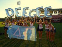 Epsilon Theta Chapter - University of Tampa (Tampa, FL) Awesome bid day idea