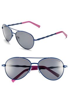 Lilly Pulitzer® 'Amelia' 57mm Polarized Aviator Sunglasses available at #Nordstrom