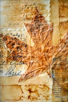 Patina Moon: Mixed Media / Crafts tea bag background
