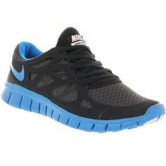 Nike Free run 2 black metallic silver ($140) ❤ liked on Polyvore