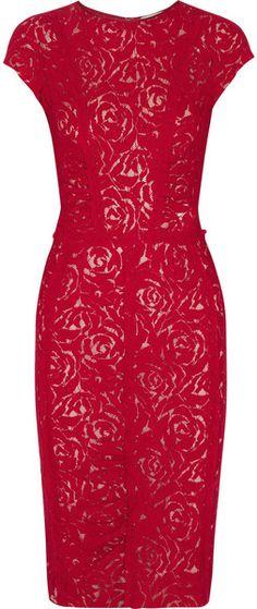 Ruched Lace Dress - nina ricci
