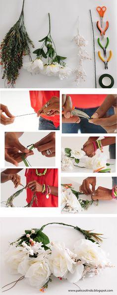 Corona de flores para la revista Pandora