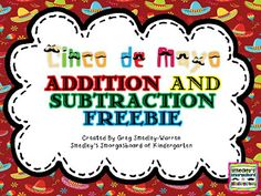 FREEBIE!  Addition and subtraction cards and recording sheets for Cinco de Mayo!