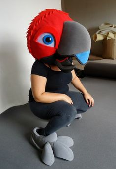 Polly want an art studio! Halloween Costumes To Make, Halloween Wood Signs, Halloween Sewing, Halloween Cosplay, Diy Costumes, Fursuit Head, Puppet Patterns, Bird Costume, Zapatos