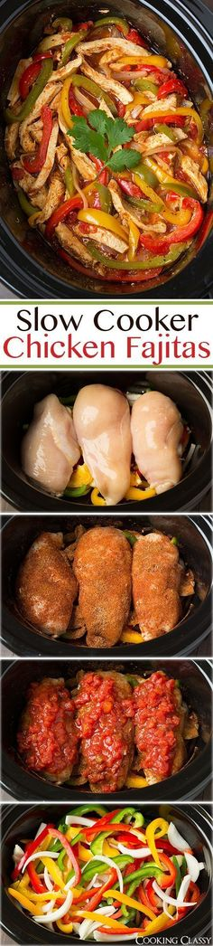 Clean Eating Slow Cooker Chicken Fajitas Recipe plus 28 more of the most pinned Clean Eating recipes.